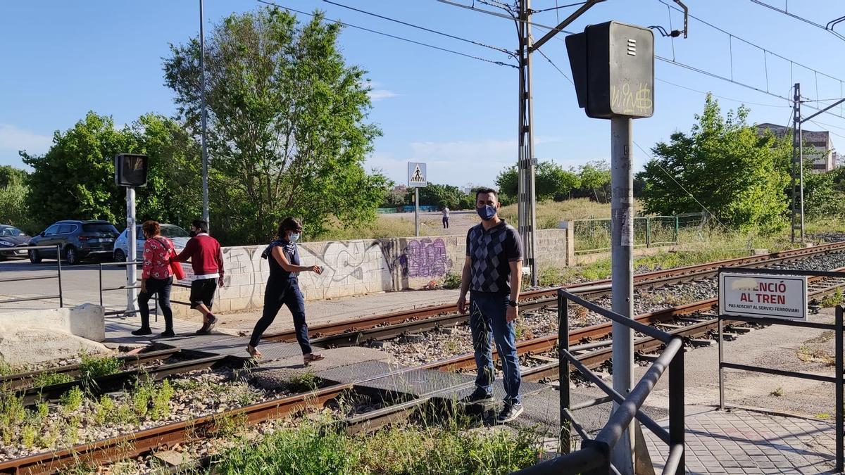 Paso peatonal en Canterería