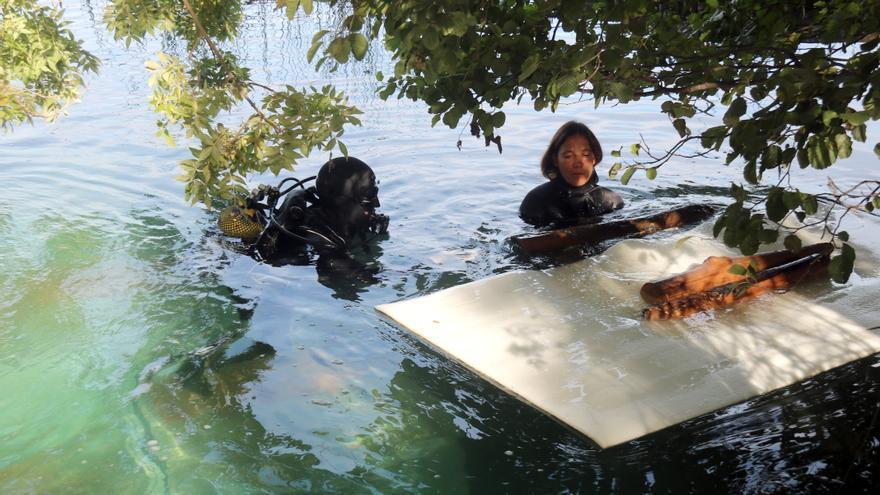 Neix un magatzem subaquàtic a l'estany de Banyoles on es guarden més de 1.000 fustes del poblat neolític de la Draga