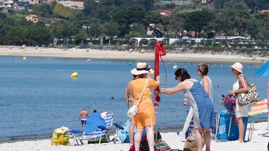 La canícula no defrauda en su llegada a Galicia