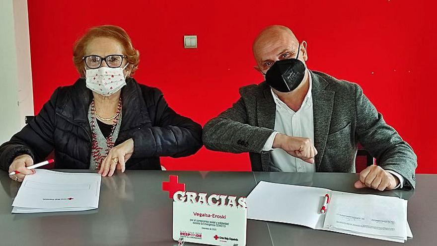 Cruz Roja y Vegalsa-Eroski colaboran para que personas en situación vulnerable realicen prácticas