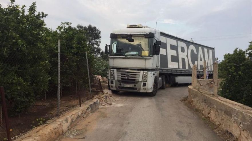 Una trampa para camiones en Tavernes