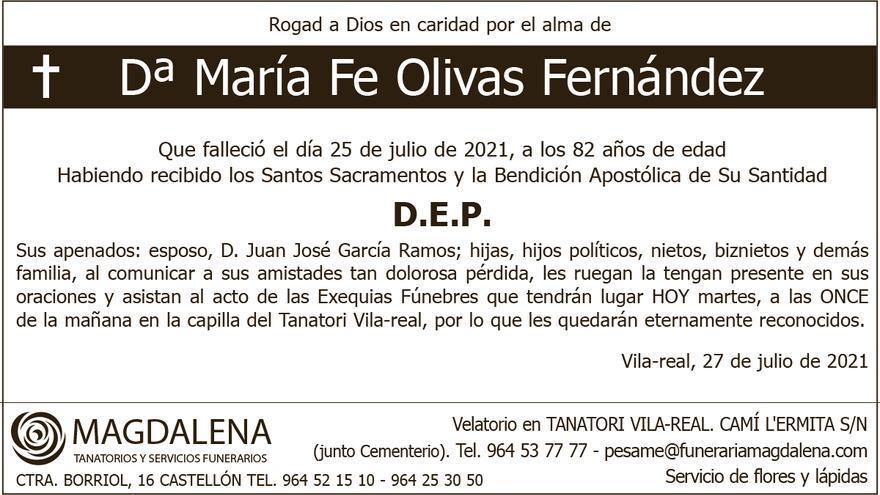 Dª María Fe Olivas Fernández