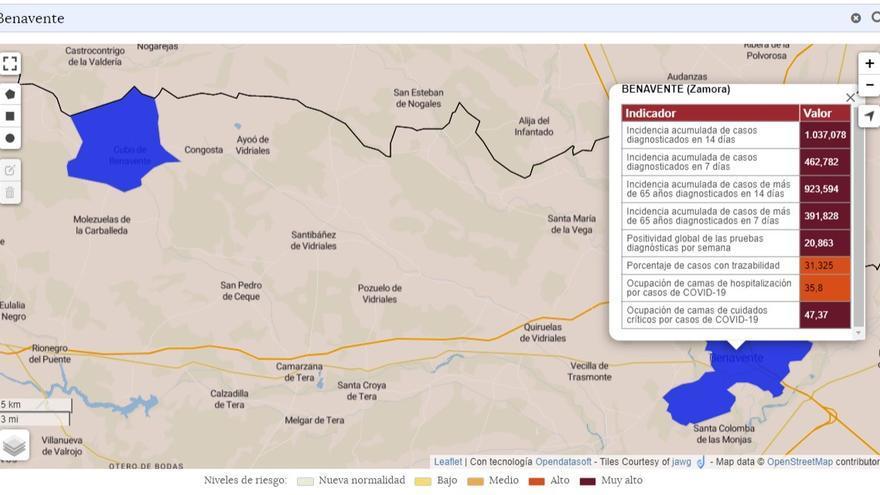 El COVID-19 se ceba con los mayores de 65 años en Benavente: 924 casos por 100.000 habitantes en 14 días
