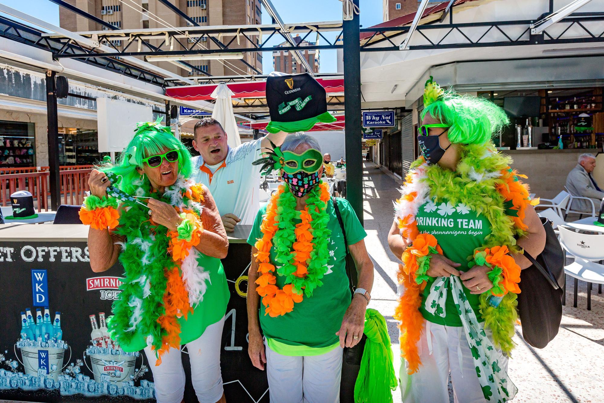Celebración de St Patrick's Day en Benidorm