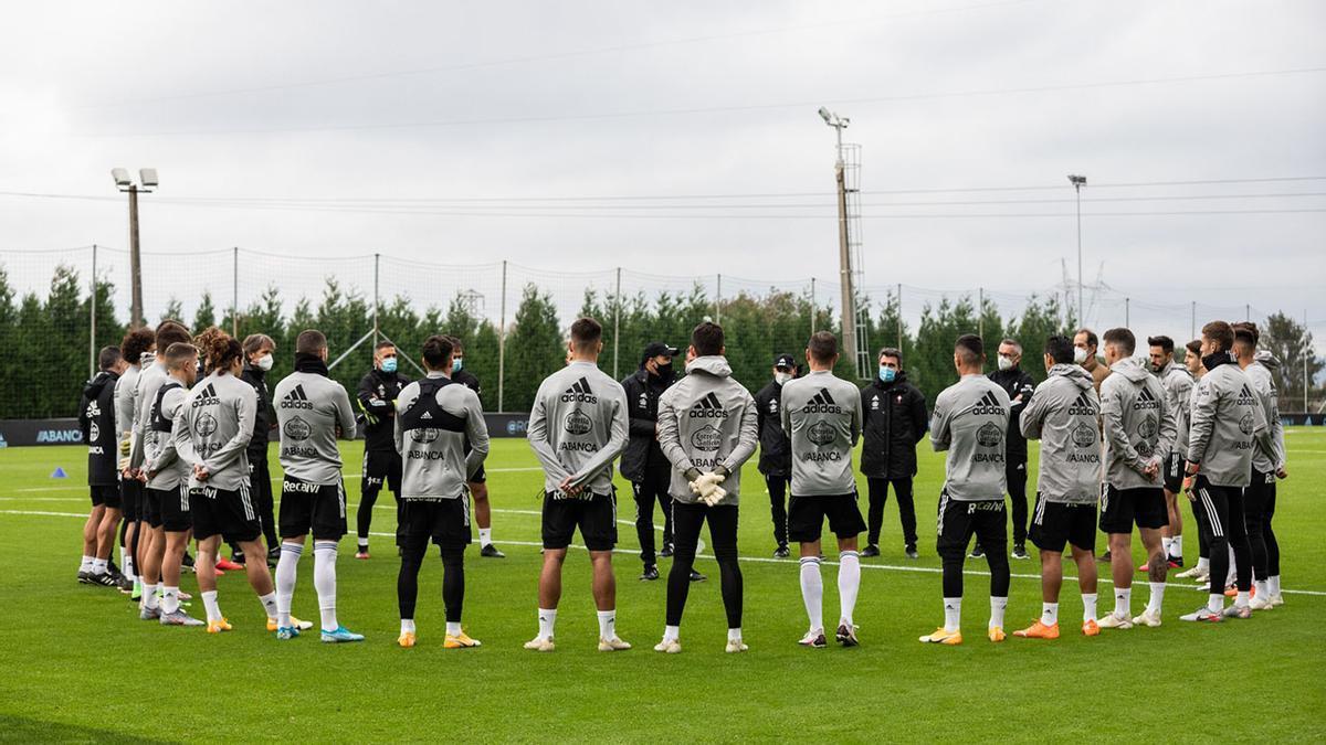 El RC Celta en un entrenamiento reciente
