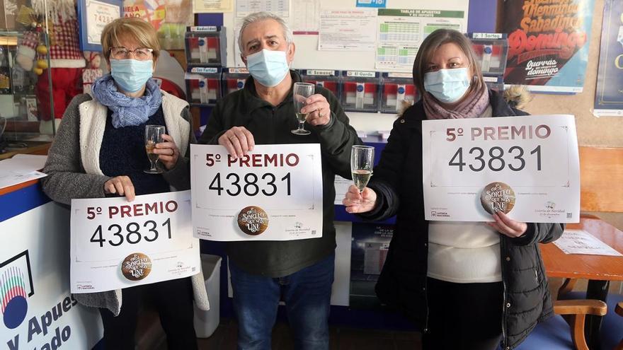 La suerte vuelve a sonreír a Montilla con el número 43.831