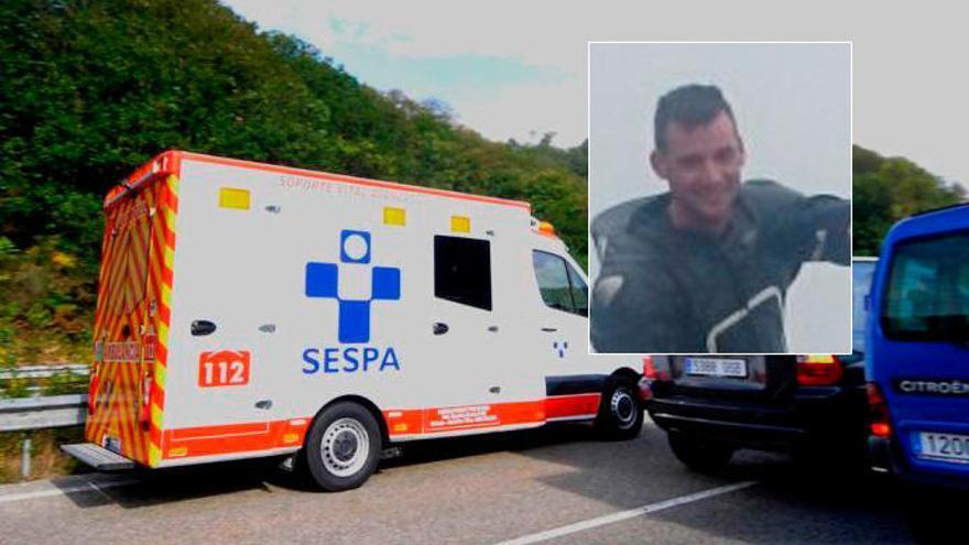 Luto en Aller por la muerte de un joven motorista de 29 años en la Autovía Minera