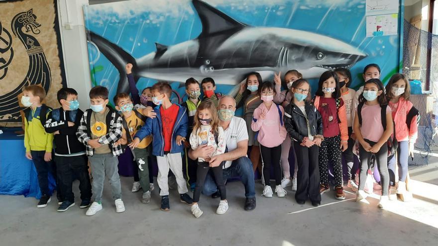 """Los pequeños de Moaña disfrutan de su """"Museo do Mar"""""""