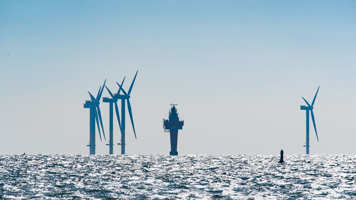 Sistemas de eólica marina ya instalados.