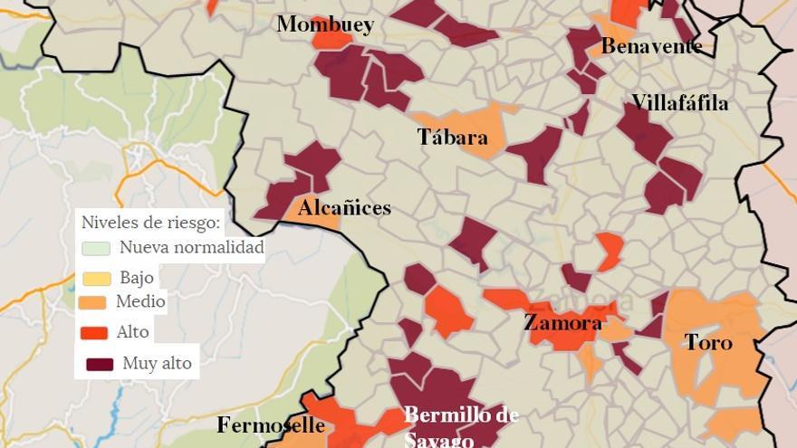Mapa COVID de Zamora: la zona básica de salud de Corrales, libre de virus