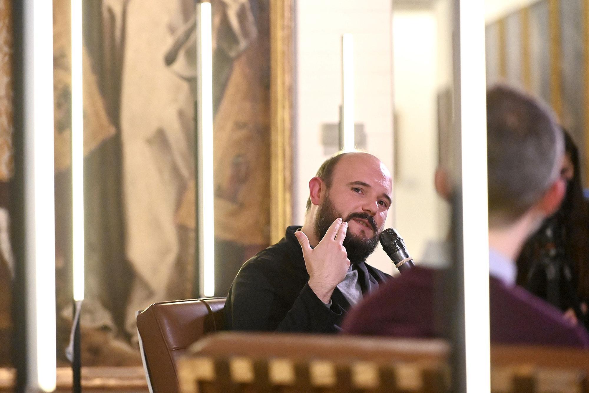 Niño de Elche habla de su arte y su cante en el Museu de Belles Arts de Castelló