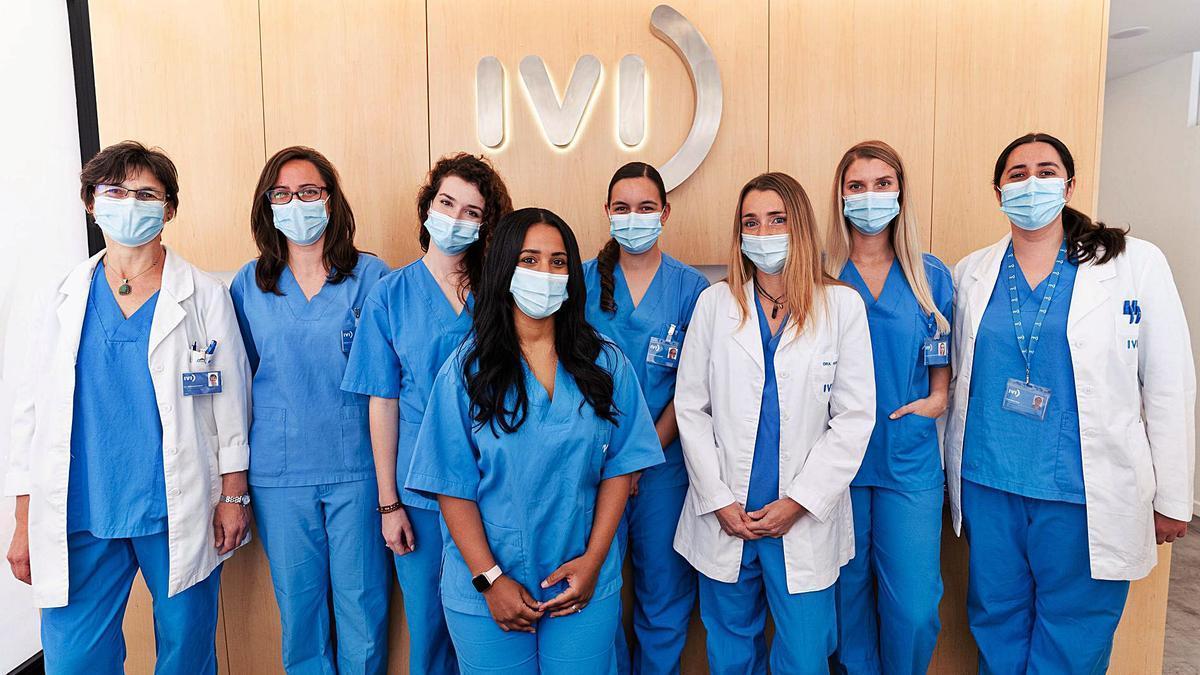Parte del equipo médico del IVI y de la Policlínica Nuestra Señora del Rosario para los tratamientos de reproducción asistida. | GRUPO POLICLÍNICA