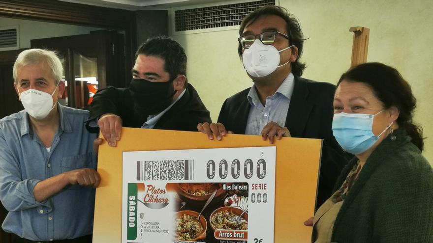 El 'arròs brut', imagen del cupón de la ONCE