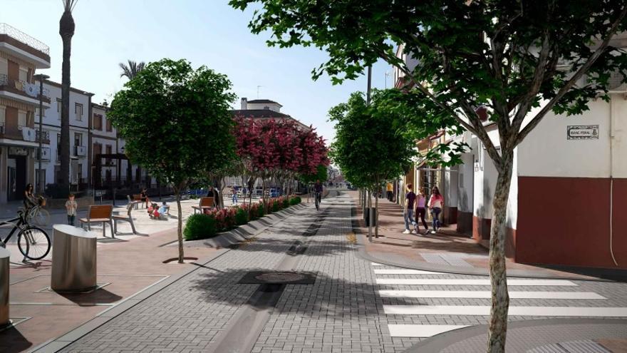 La calle Alcolea transformará la vida comercial de Villafranca