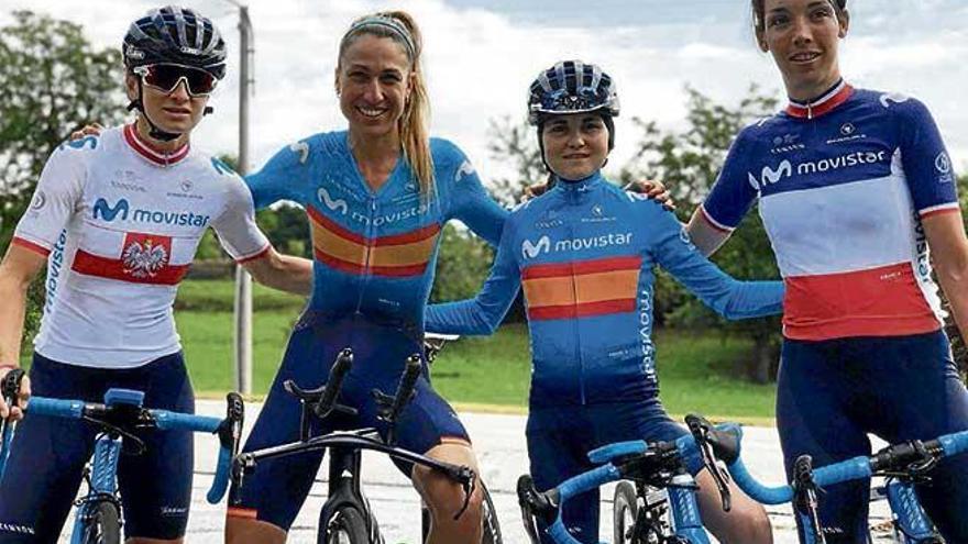 Meritoria octava plaza del Movistar de Mavi García en el inicio del Giro