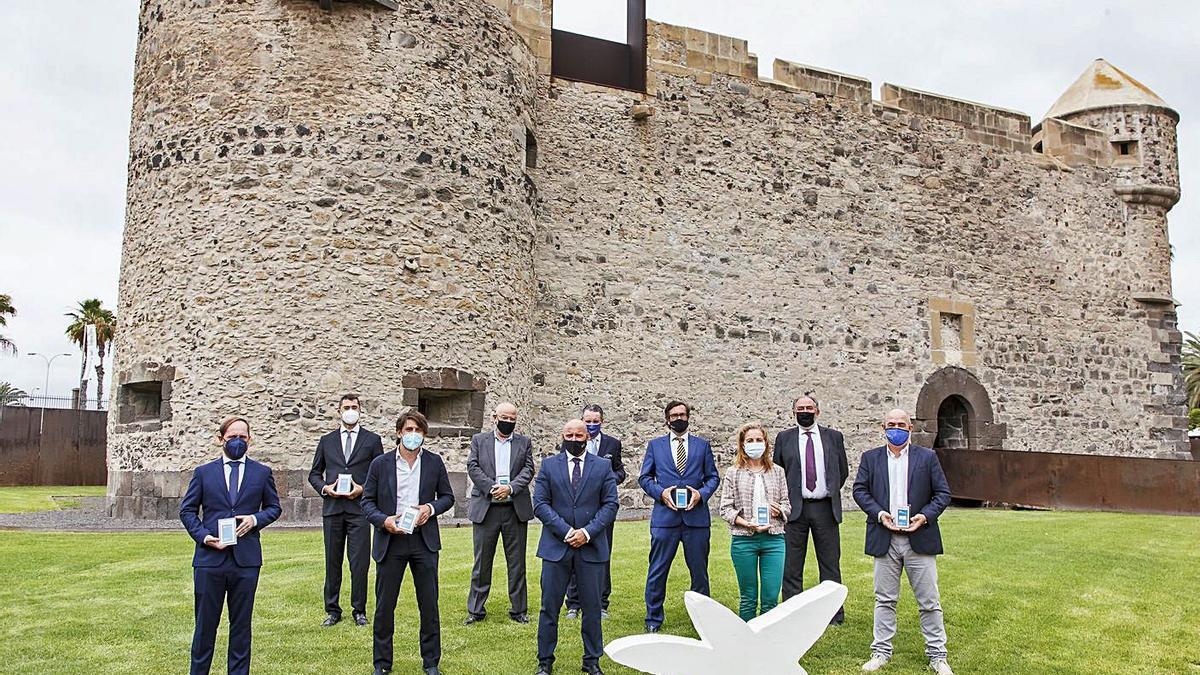 Los premiados por Caixabank a la innovación y la modernización turísticas .     LP/DLP