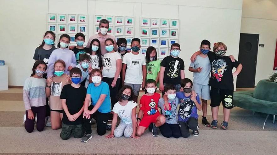 Escolares de L'Urgell visitan el Club Diario de Ibiza