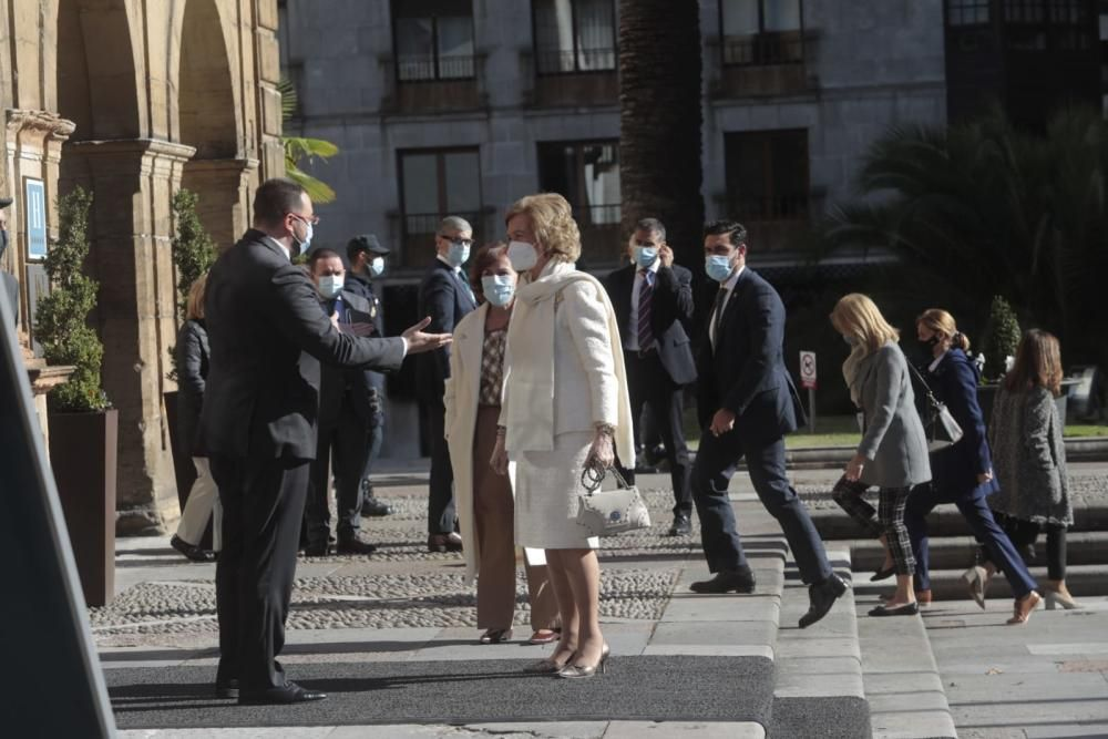 """Llega la Reina Sofía para asistir a los """"Princesa"""""""