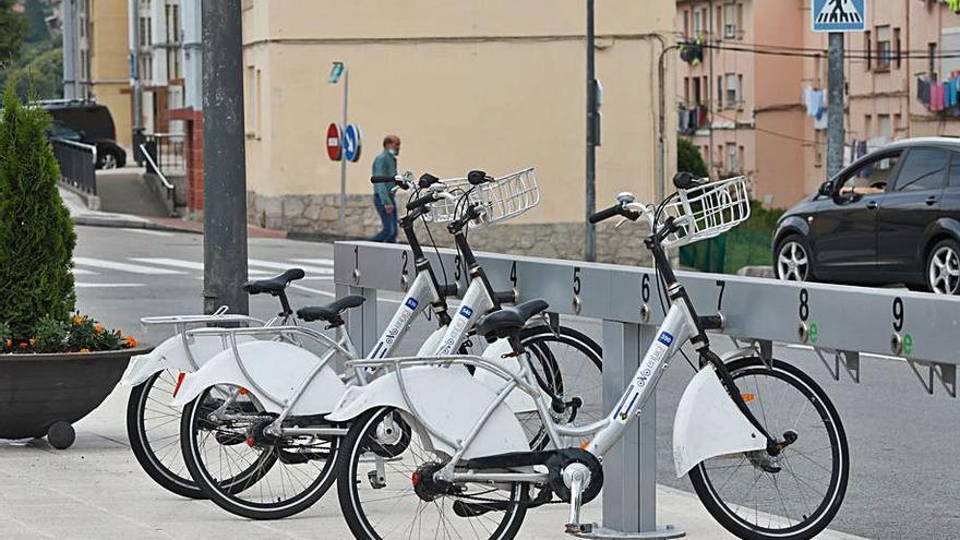 El barrio de La Carriona cuenta ya con un puesto de préstamo de bicicletas