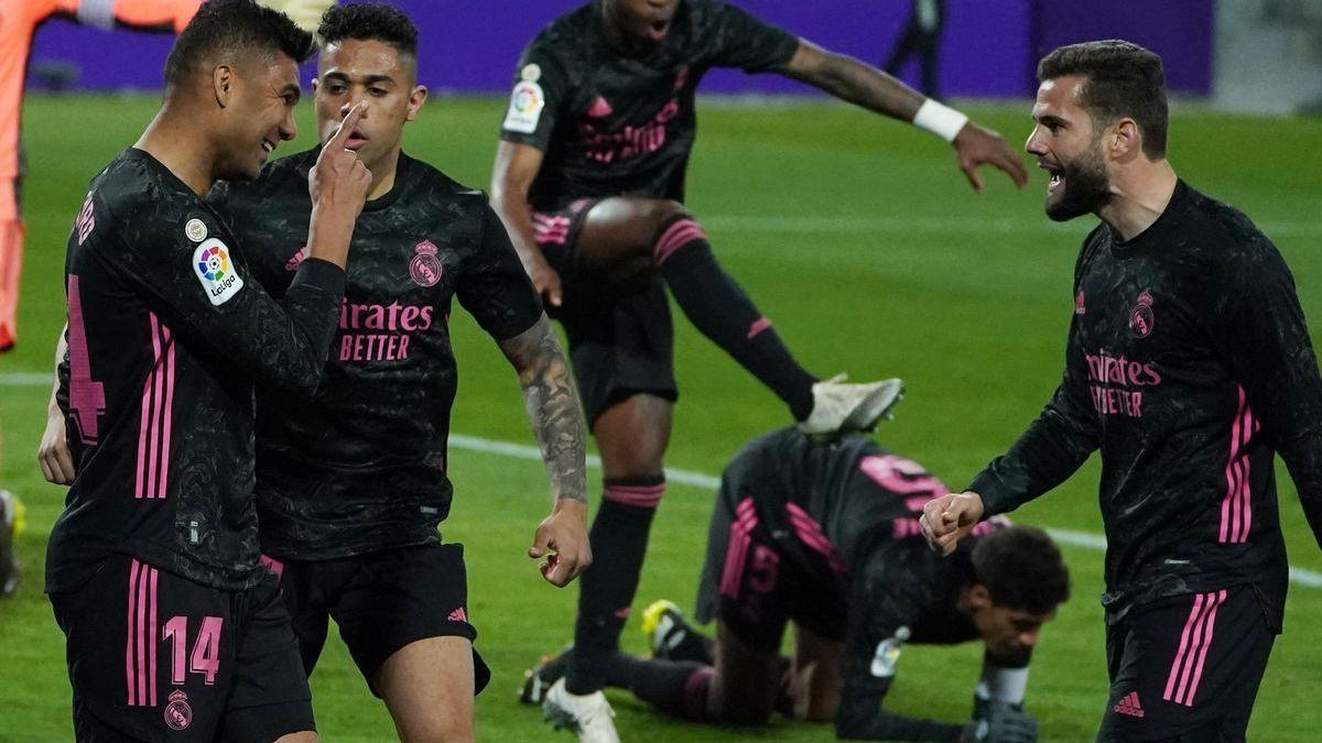 El Madrid gana con lo justo en Valladolid y se reengancha a La Liga