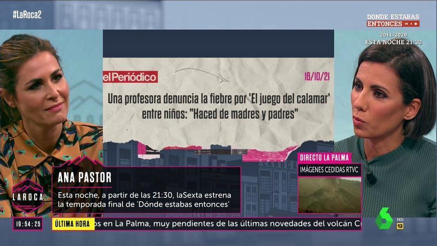 """Ana Pastor explica por qué no deja que su hijo vea 'El juego del calamar': """"Está enfadado conmigo"""""""