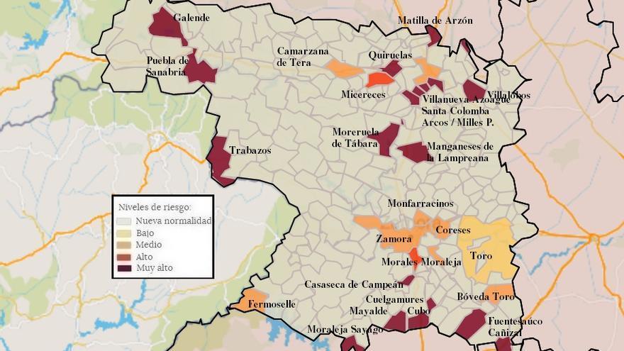 Mapa de coronavirus de Zamora, hoy, viernes | Fermoselle, Toro, Camarzana y Cañizal vuelven a tener contagios