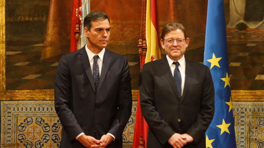 Cataluña arrima a Puig y Sánchez