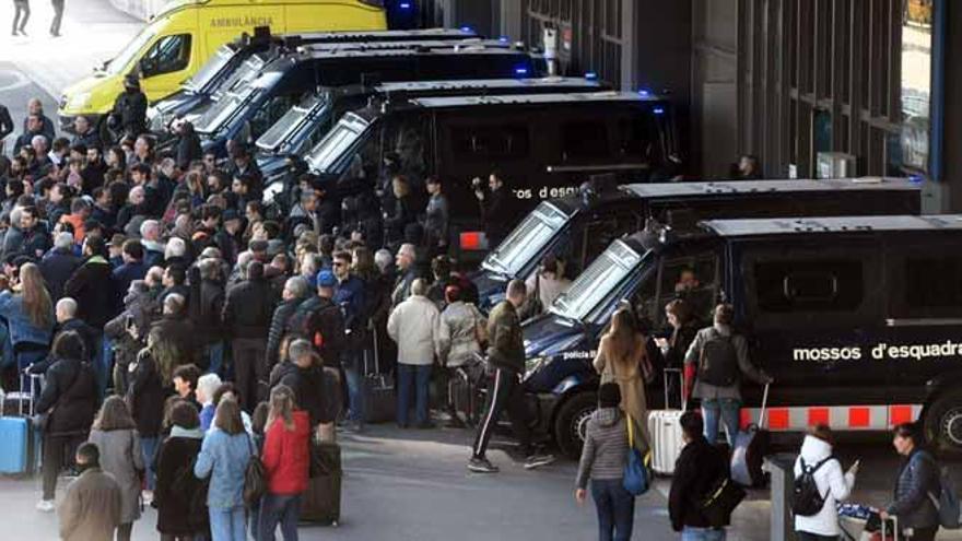 Las acciones de los CDR en Barcelona pierden fuelle