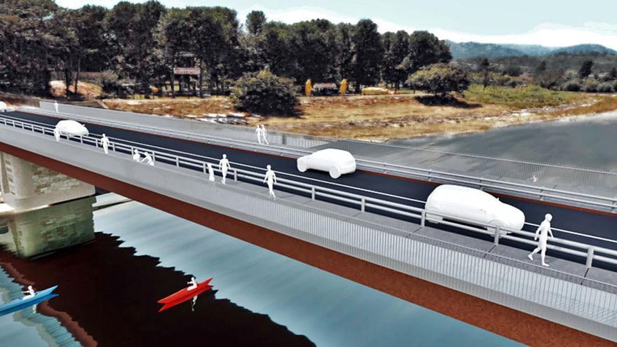 El nuevo puente de Arriondas tendrá una acera de cristal sobre el Sella y carril bici