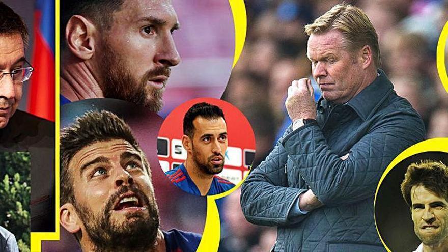 Los paralelismos de Koeman: Albelda, Cañizares, Angulo, Piqué, Busquets... ¿y Messi?
