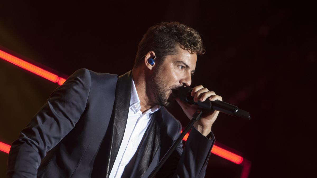 David Bisbal durante un concierto en 2017.