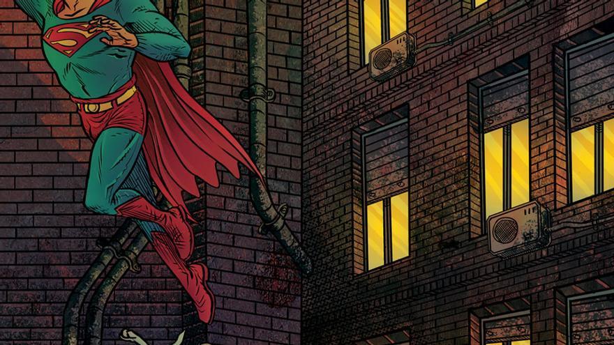 Superman, con los auténticos héroes del Covid