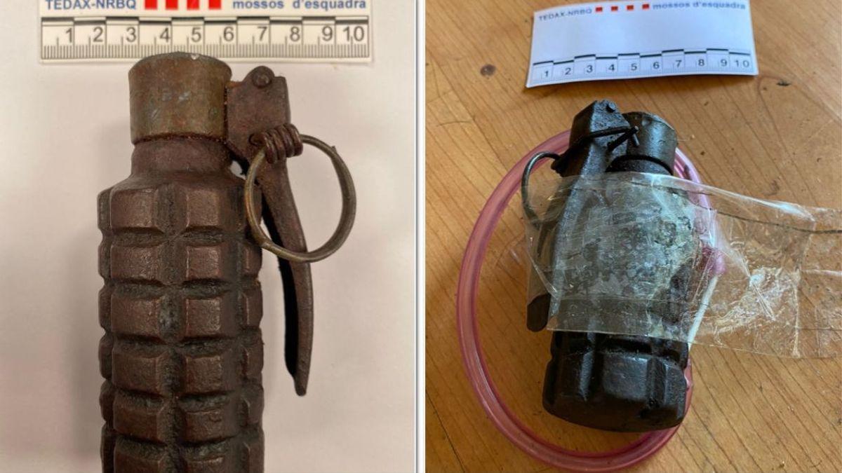 Dos imágenes del artefacto explosivo.