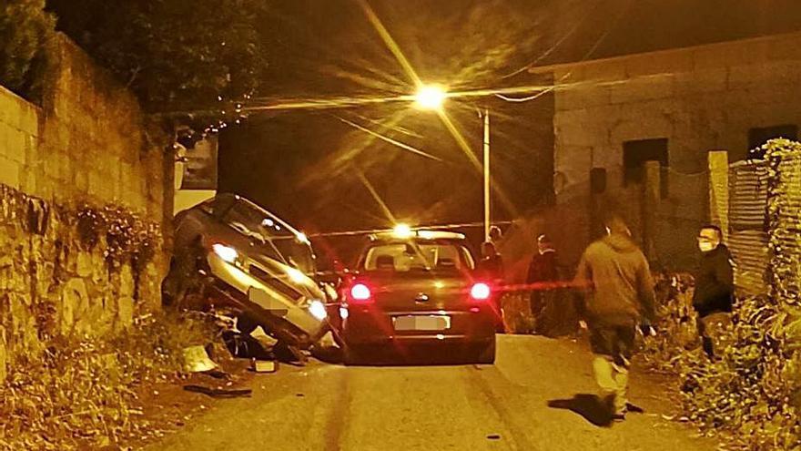 Un accidente en Marín termina en pelea entre los implicados