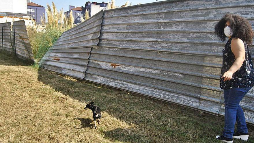 """Indignación entre los usuarios del parque de perros de Lugones: """"No hay casi mantenimiento"""""""