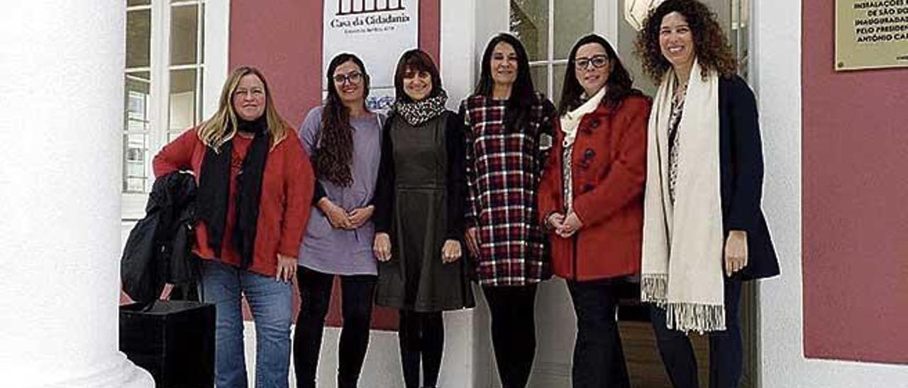 Les docents durant l'estada a Portugal.