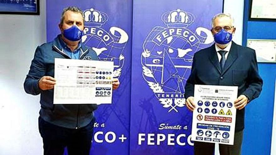 Antonio Kouri, técnico, y Óscar Izquierdo, presidente de Fepeco (d). | | E.D.