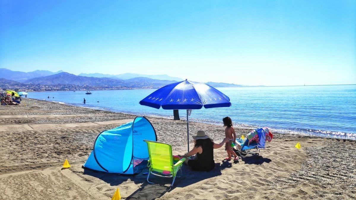 Playa con control de aforo durante la temporada de verano 2020.