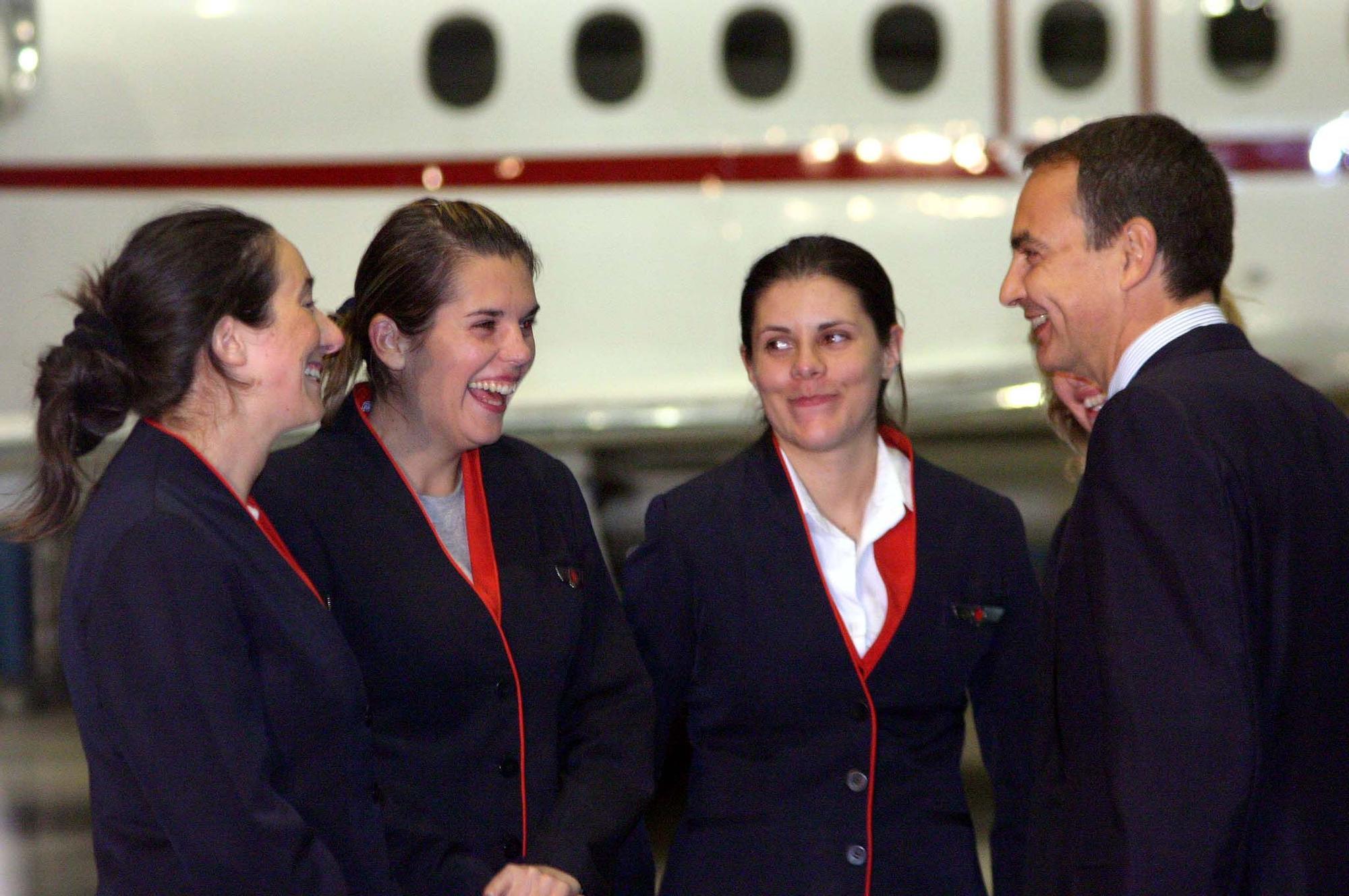 Tatiana y sus compa�eros recibidos por Zapatero.jpg