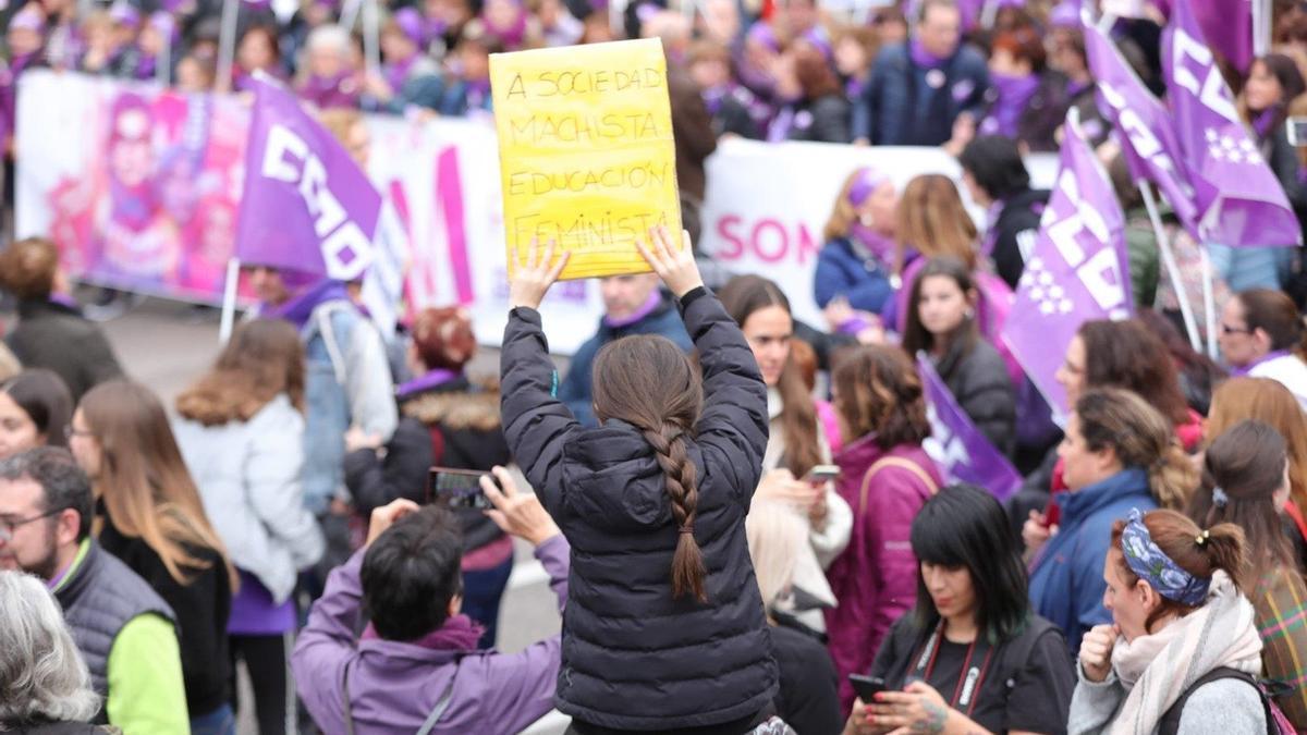 Una manifestación durante e 8M en Madrid