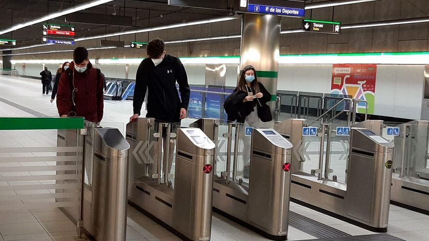 El número de viajeros del metro de Málaga crece por primera vez desde el inicio de la pandemia