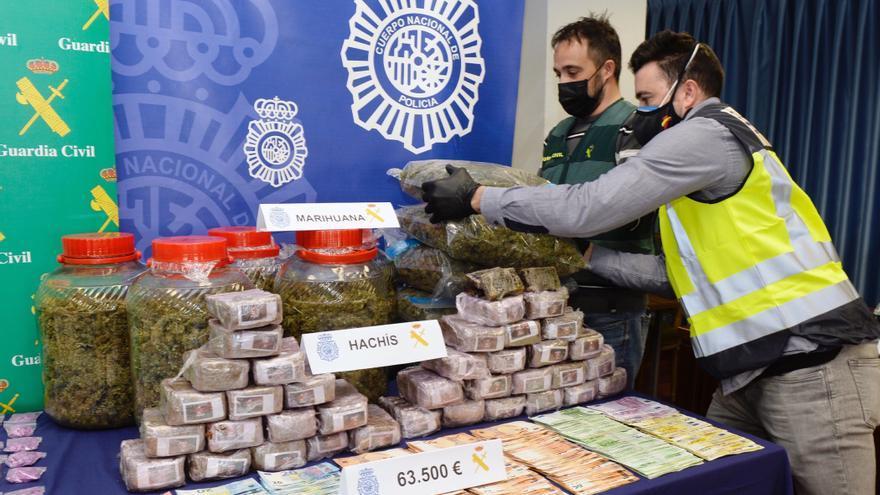 Así ha sido la operación Ícaro en Valladolid: siete detenidos y 67 kilos de estupefacientes decomisados