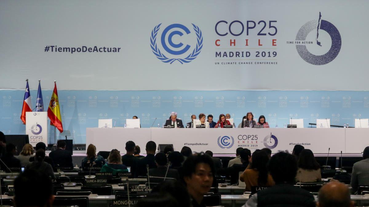 Una imagen de la cumbre del clima COP25 de Madrid.