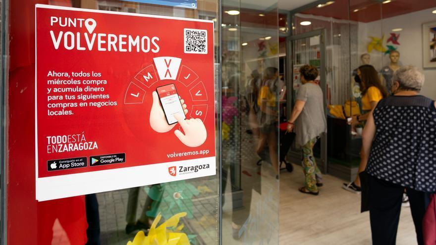 'Volveremos' retoma las bonificaciones de hasta el 30% en los negocios locales de Zaragoza