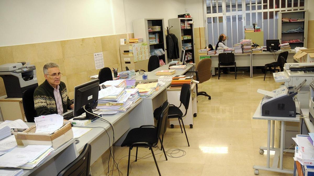Oficinas de los juzgados Contencioso Administrativo de Pontevedra en una imagen de archivo