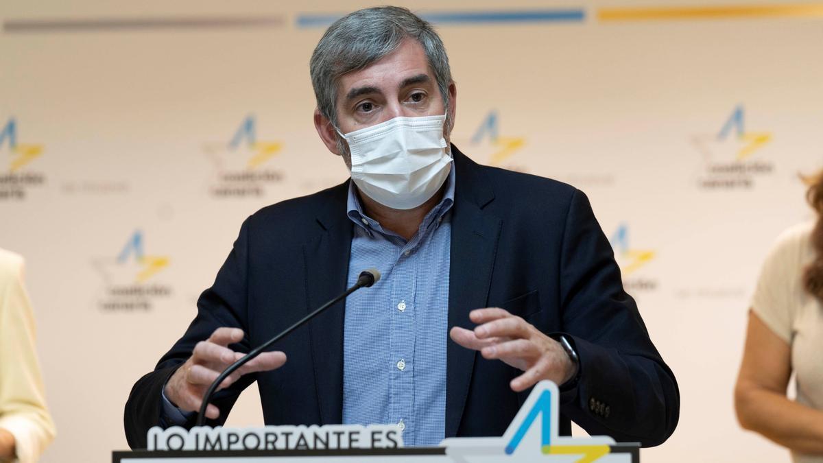 El secretario general de CC, Fernando Clavijo.
