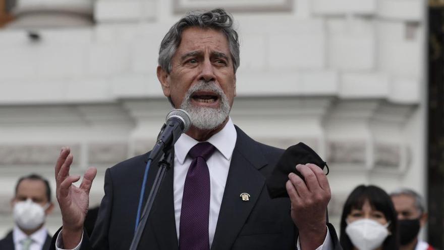 """Sagasti: """"Haremos todo lo posible por devolverle la esperanza a Perú"""""""