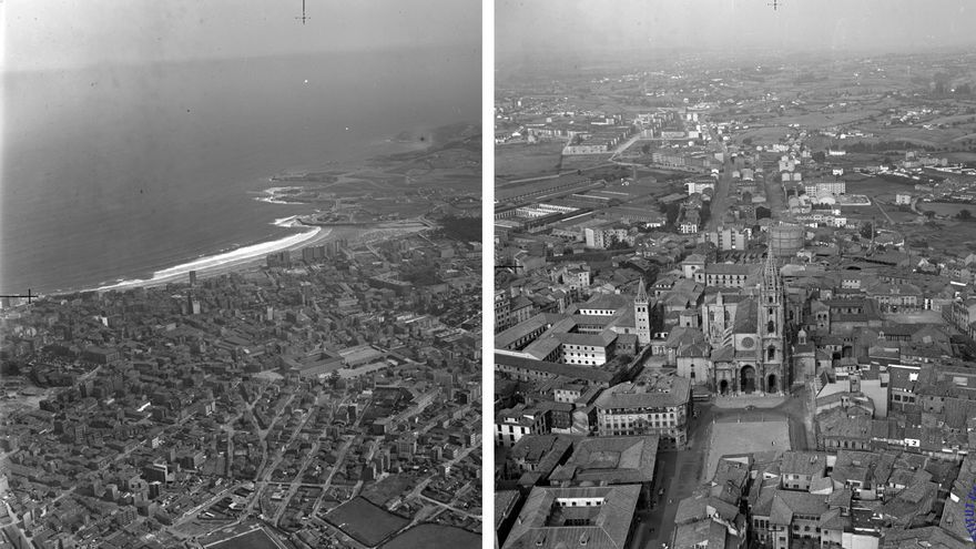 Un vuelo al pasado: así era Asturias, desde el aire, en 1962