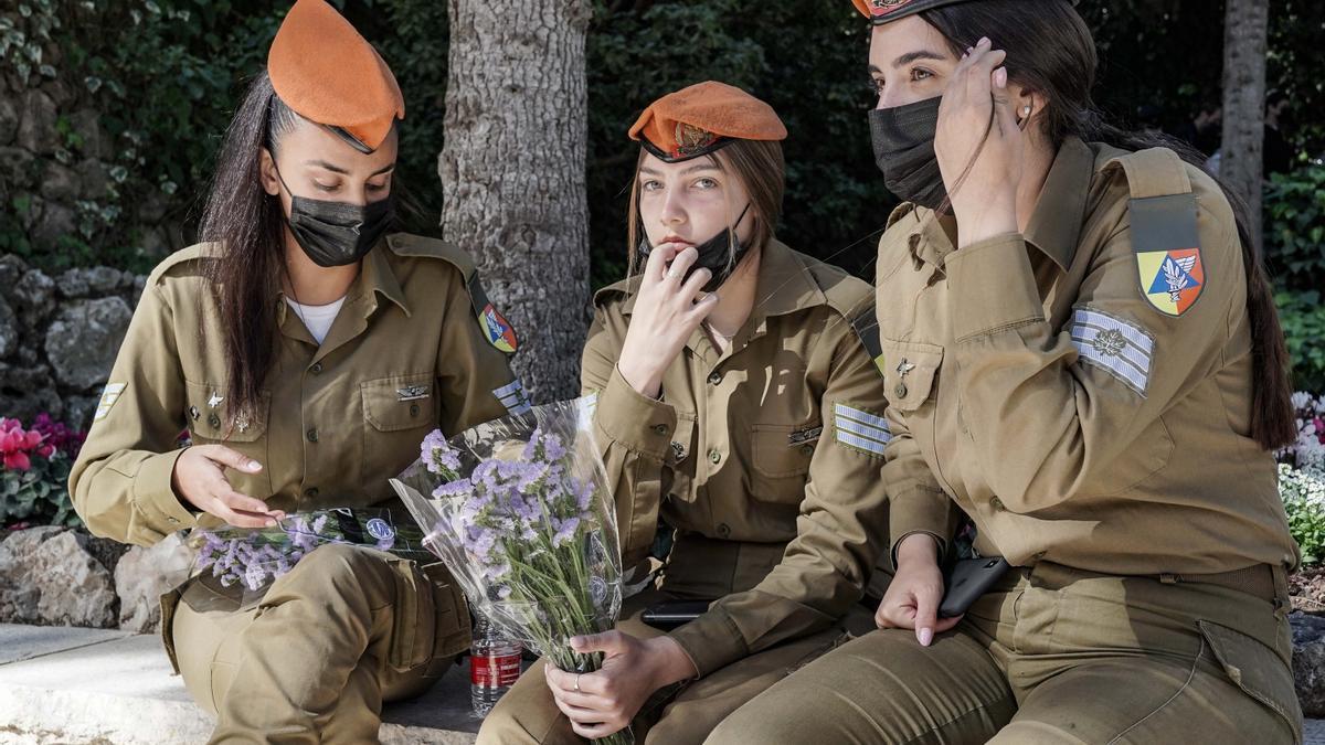 Mujeres militares del Ejército israelí.