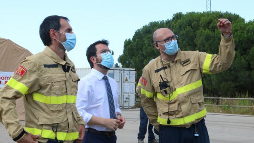"""Aragonès crida a """"seguir pendents i mantenir totes les precaucions"""" després que s'hagi controlat l'incendi de Llançà"""